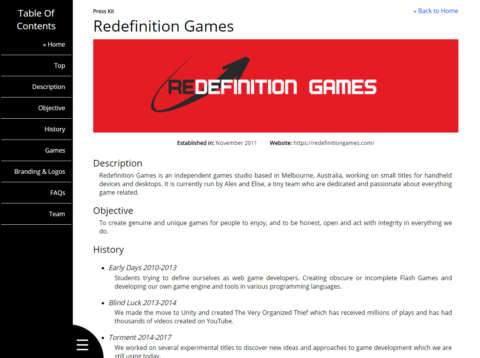 Redefinition Games Press Kit